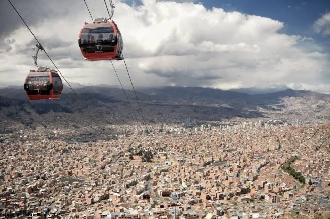 Самый длинный в мире фуникулер в Боливии
